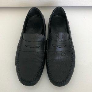 Gucci Men's Black Leather GG Guccissima loafer 11